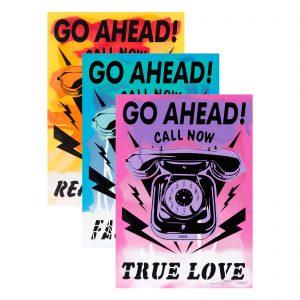 3Steps   Siebdrucke - Telephone Set